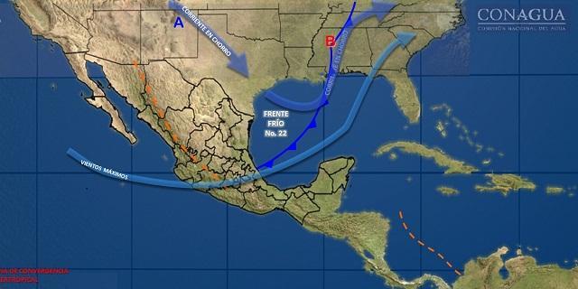 Pronóstico del tiempo para las próximas 24 hrs. Estado de Chihuahua