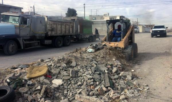 Retirarán más de 80 toneladas de tierra y escombro, Cd. Juárez, Chihuhaua.