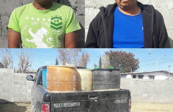 Los detienen con 1400 litros de gasolina en Ojinaga, Chihuahua