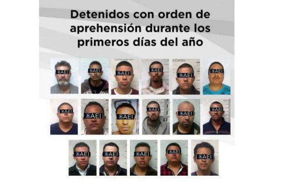 En los primeros días del año, la Fiscalía de Distrito Zona Centro capturó a 32 acusados de cometer un delito