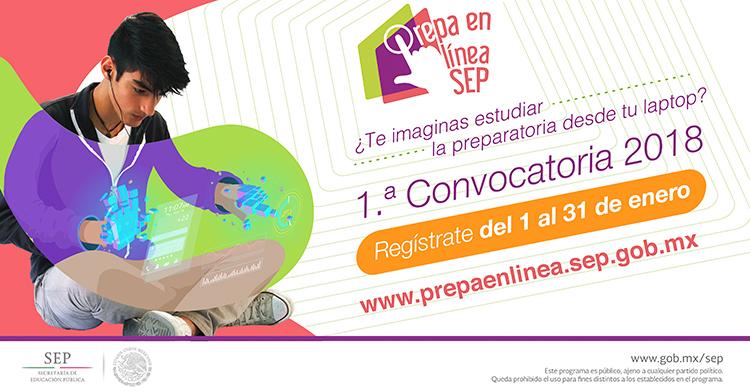 Iniciamos el año con la primera convocatoria de #PrepaEnLíneaSEP