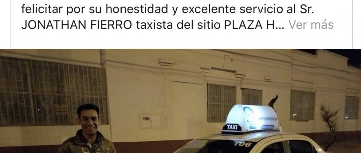 Devuelve Taxista celular olvidado. Sitio Hollywood