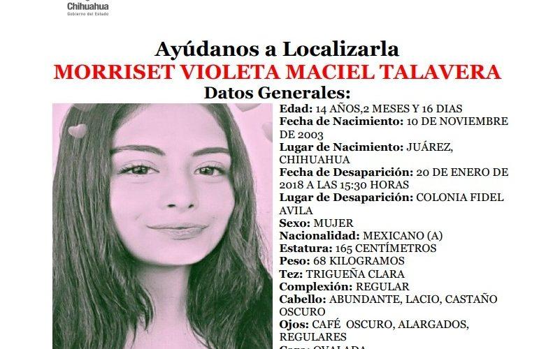 Solicitan apoyo para localizar a jovencita en Ciudad Juarez