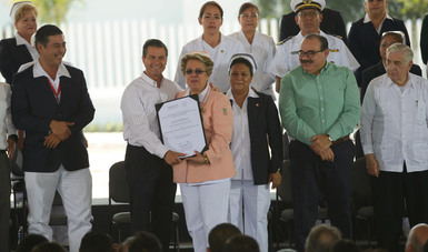 Lograr mayor calidad y mejores servicios, para asegurar la salud de los mexicanos, es el objetivo del Gobierno de la República para 2018:EPN