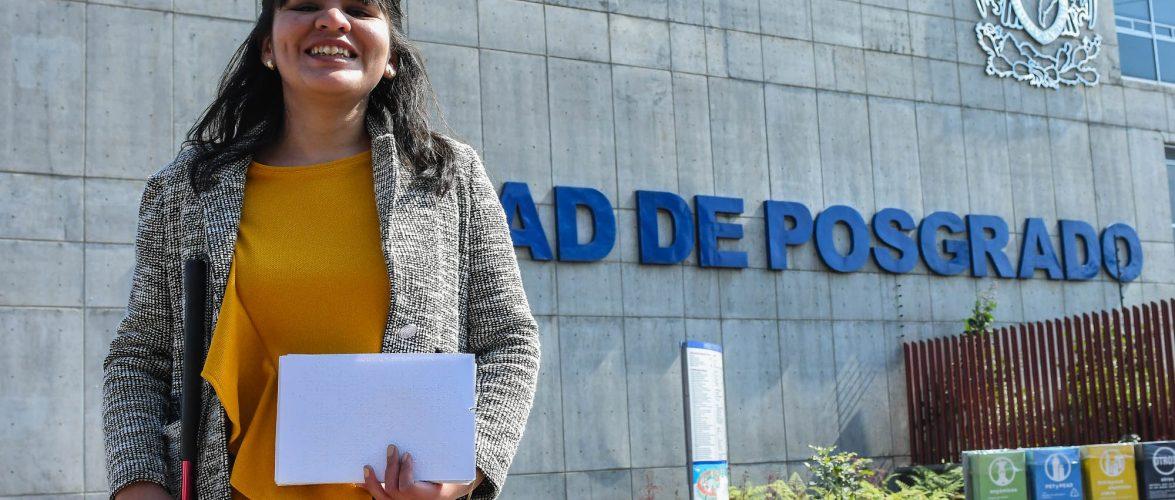 SE TITULA EN LA UNAM PRIMERA UNIVERSITARIA INVIDENTE CON GRADO DE MAESTRA EN MÚSICA