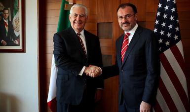 Se reúne el Canciller Videgaray con el Secretario de Estado de Estados Unidos, Rex Tillerson