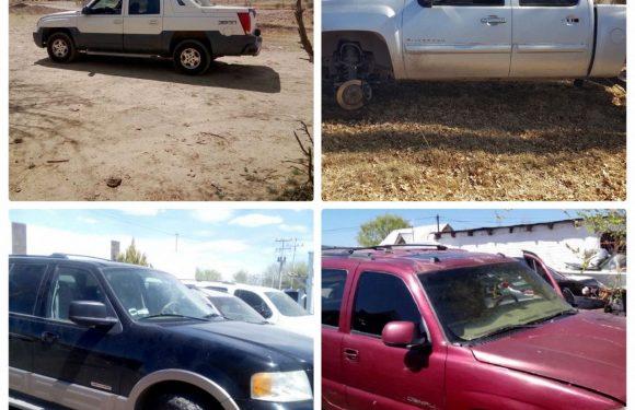 Recupera FGE Occidente  cinco vehículos robados