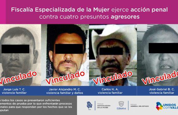 FEM Zona Occidente ejerce acción penal contra cuatro presuntos agresores en una semana