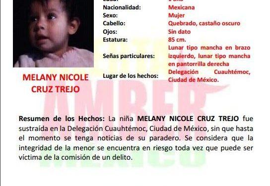 Fiscalía de la Mujer colabora con búsqueda de niña sustraída en la Ciudad de México