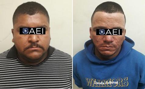 La Agencia Estatal de Investigación arrestó a dos sujetos buscados por autoridades del estado de Coahuila, por el delito de lesiones calificadas