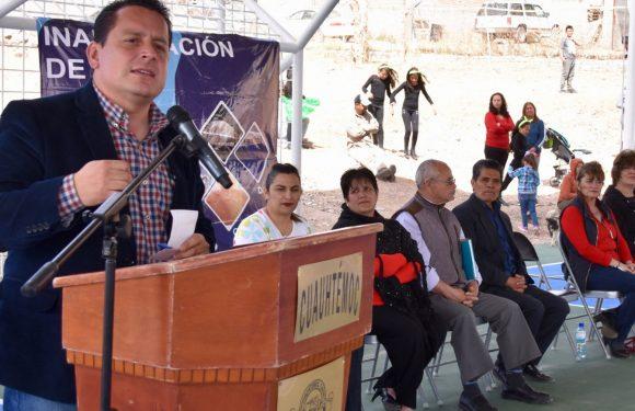Entregan domos y canchas en las primarias Cuauhtémoc y Cuauhtémoc 2689; inversión: 3.1 mdp