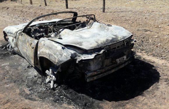 Localizan vehículo incinerado