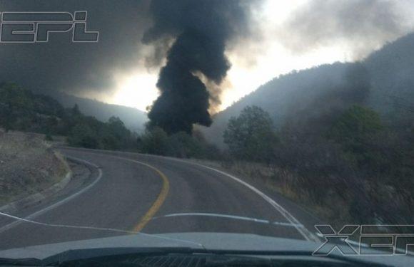 Se incendia pipa con 40 mil litros de combustible