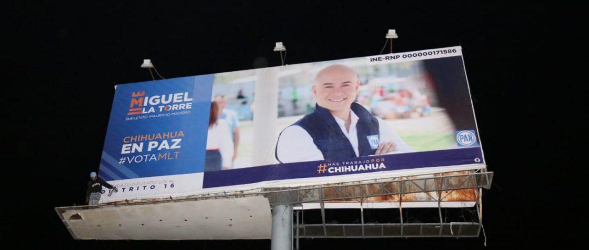 Chihuahua   Arranca campaña por el distrito XVI Miguel La Torre de forma simbólica con inauguración de espectacular