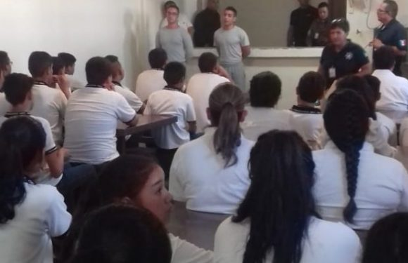 Imparten en Cereso de Parral programa preventivo a estudiantes de secundaria