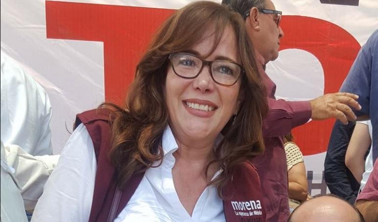 Yeidckol Polevnsky, presidenta nacional de MORENA, felicitó a Carlos Tena por su triunfo en Cuauhtémoc.