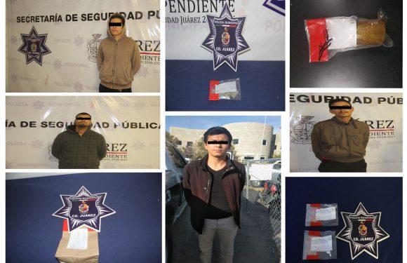 Juarez | Detienen a 6 narcomenudistas en diferentes puntos de la ciudad