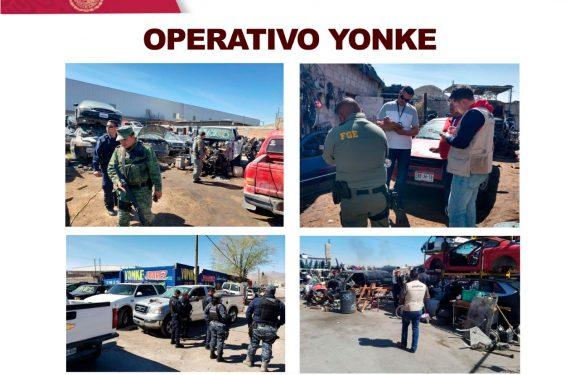 Juarez | Inspeccionan Yonkes y talleres mecánicos en busca de autopartes robadas