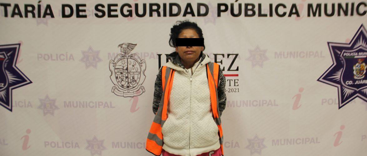 Juarez | Detienen a mujer por el delito de robo