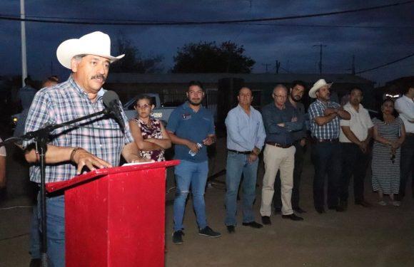 Cuauhtemoc | Entrega Carlos Tena red de alumbrado publico en colonia Tierra Nueva