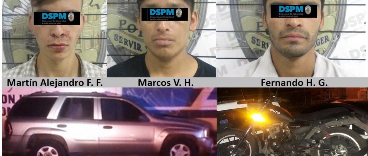 Chihuahua | Recuperan troca robada y detienen a tres presuntos responsables