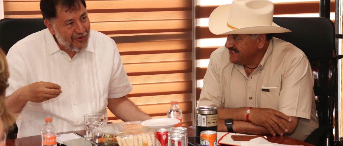 Cuauhtémoc | Dialoga Carlos Tena con el diputado federal Gerardo Fernandez Noroña sobre proyectos municipales
