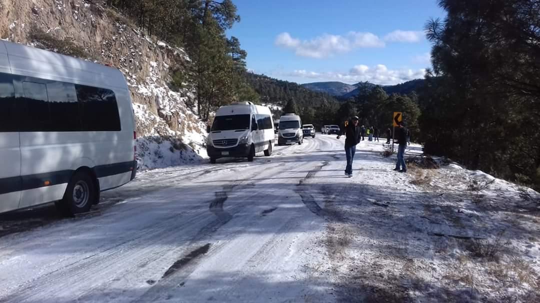 Reportan caida de nieve en 12 municipios del estado