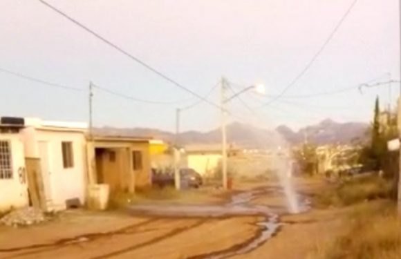 Reportan fuga de agua en cerro grande
