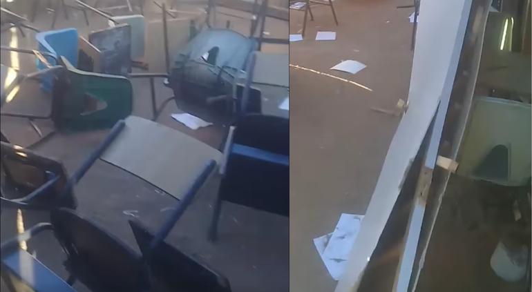 Chihuahua | Destrozan escuela improvisada a base de madera en Vistas Cerro Grande