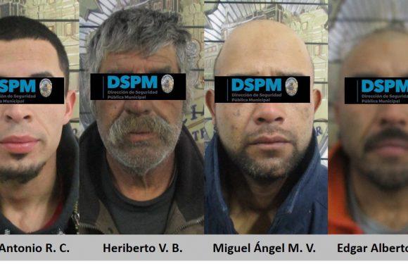 Detienen a miembros de celula delictiva con armas y droga