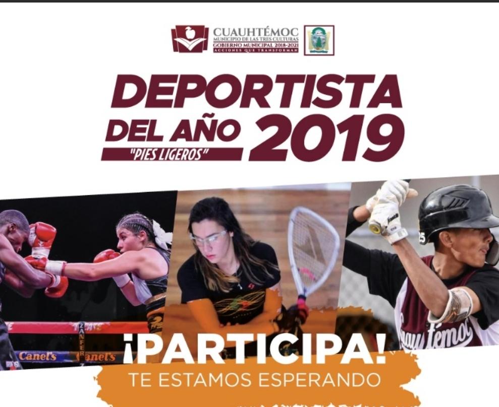 #Cuauhtémoc | Invitan a participar para el premio «Deportista del año»