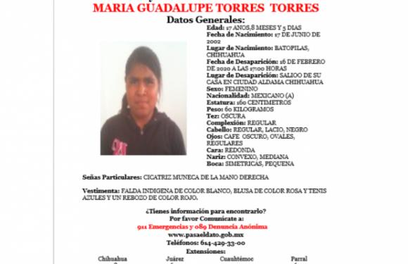 #Aldama | Solicitan ayuda para localizar a mujer extraviada