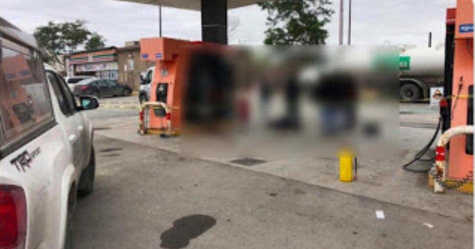 Ladrón intenta robar camioneta a Sicarios del CDG cuando estos cargaban combustible, fue ejecutado.