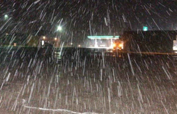Cuahutemoc |Se registra nieve en rúa a La Junta
