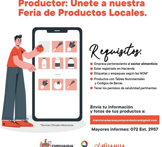 Convoca Municipio a empresas a participar en Feria de Productos Locales en supermercados
