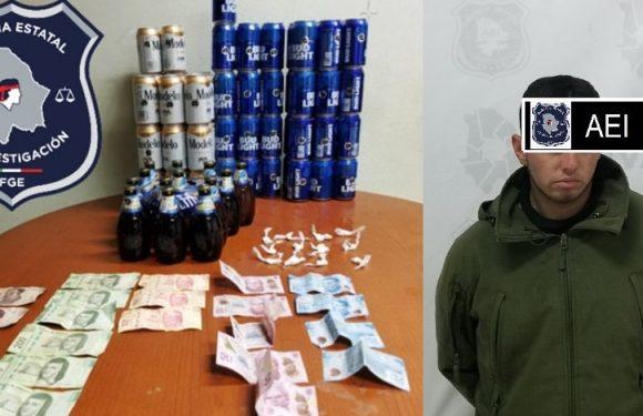 #Parral   Detienen a hombre con cocaina y latas de cerveza
