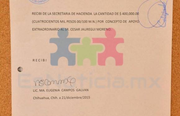 Exhiben los recibos notariados que firmó Maru cuando recibió dinero de Duarte