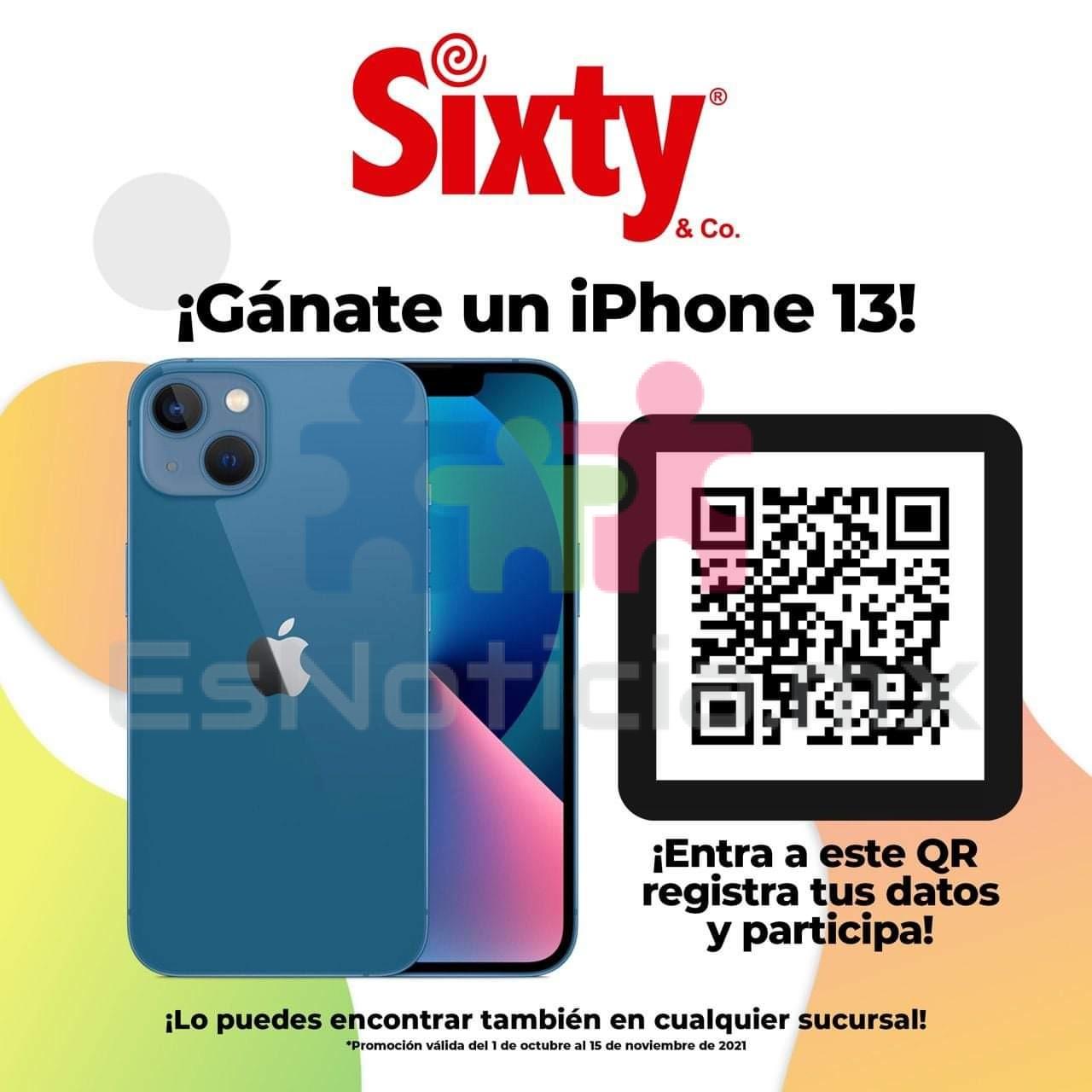 ¿Te quieres ganar un IPhone 13? … Sixty Lider en moda te dice como.
